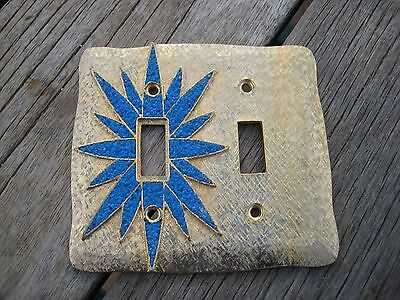 Vintage Metal FLORENTA of CALIFORNIA 2-Gang Switch Toggle Wall Plate 1970 star