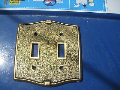 Vintage ***   FRANKLIN   *** Metal 2-Gang Toggle Switch Wall Plate USA