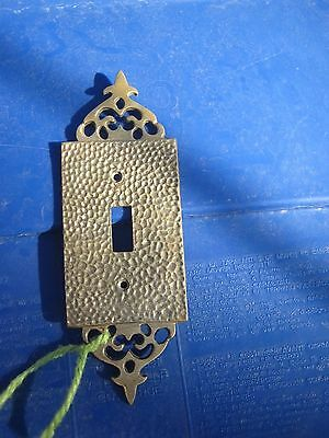 Vintage 1-Gang Brass Ornate Toggle Switch Wall Plate JAPAN