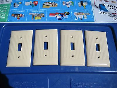 Vintage ***   SIERRA ELECTRIC   *** 1-Gang Toggle Switch Wall Plate Set of 4 USA