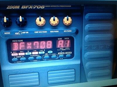 ZOOM BFX 708 guitar multi effects pedal,for bass & electr.guitar,Pwr.supl.leads.