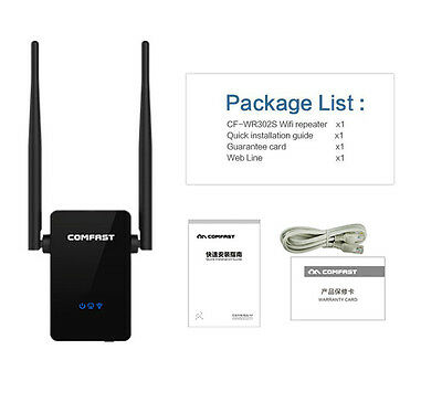COMFAST Wireless Repeater Network Router WiFi Extender Booster 802.11n US