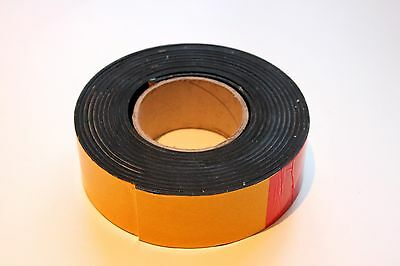 SOLID NEOPRENE SELF ADHESIVE BACKED RUBBER STRIP 50mm x 3mm x 1m roll