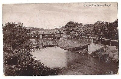 MUSSELBURGH On the Esk, RP Postcard by Valentine, Postally Used 1918