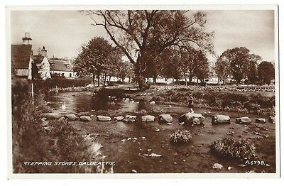DALBEATTIE Stepping Stones, RP Postcard by Valentine, Unused