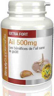 Ail 500mg 180 + 180 (360) Gélules - Simply Supplements