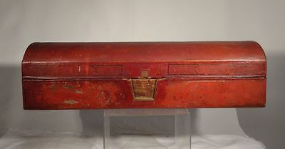 Antique Chinese Leather Sutra Box Document Box Marked Reign Mark Official