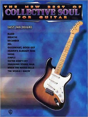 THE NEW Best Of Collective Soul For Guitar Easy Tab Sheet Music Book ...
