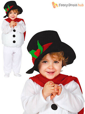 Baby Toddler Snowman Costume Childs Christmas Fancy Dress Boys Girls Xmas Outfit