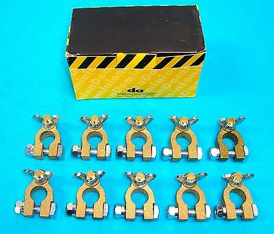100 WING NUT UNIVERSAL BRASS BATTERY TERMINALS ____Made in USA
