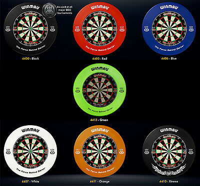Winmau - Surround Pro Black Blue Red Creme Orange Green Dart Board (Steel-Dart)