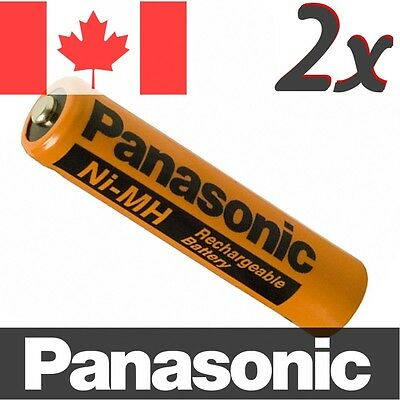 2 Pcs Panasonic NiMH AAA Rechargeable Battery for Cordless Phone. HHR-75AAAB