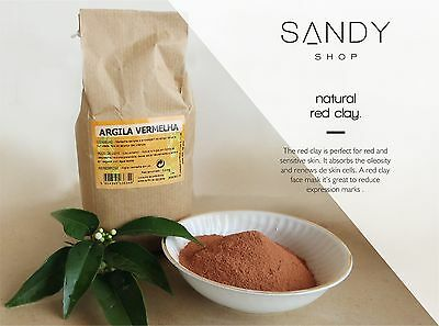 Pure Organic Red Clay Fine Powder Face Mask – 1000g / 500g / 250g / 25g