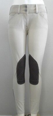 Renard et Cheval Breeches in White and Tan Mid-Rise Various Sizes