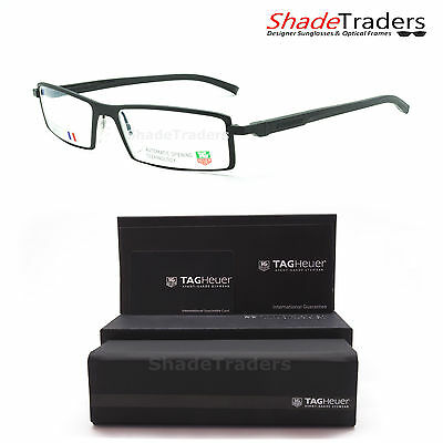 Tag Heuer Automatic Unisex Rimmed Optical Glasses Frame Noir Black 0803 001 54