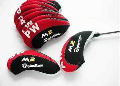 New Taylormade M2 Iron Covers Golf Club Head Covers Black & Red