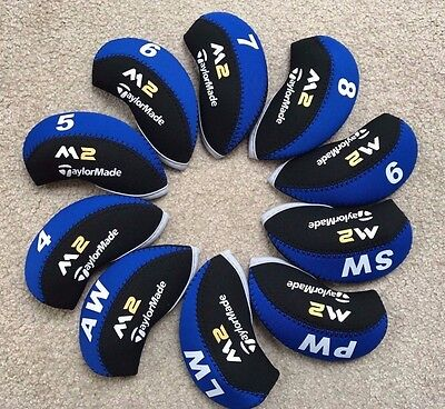New Taylormade M2 Iron Covers Golf Club Head Covers Black & Blue