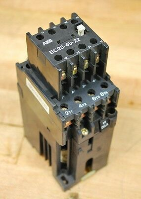 ABB BC25 Contactor 24VDC, 4 N/O Contacts With Auxillary Contact Block BC25-40-22