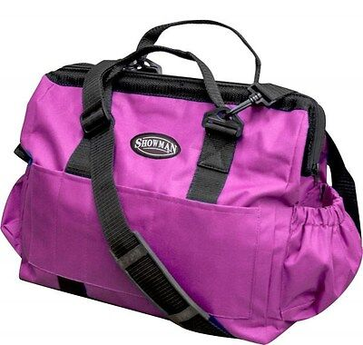 Showman Large PINK Nylon Grooming Tote w/ Removable Shoulder Strap! HORSE TACK!!