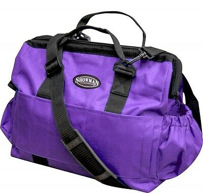 Showman Large PURPLE Nylon Grooming Tote w/ Removable Shoulder Strap! HORSE TACK