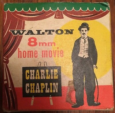 """Vintage 8mm Projector Movie 50ft Reel - Charlie Chaplin """"The Knockout"""""""