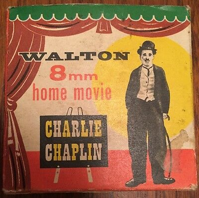 """Vintage 8mm Projector Movie 50ft Reel - Charlie Chaplin """"Charlie In The Ring"""""""