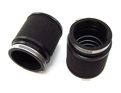 ☆ UNI Foam Motorcycle Air Filter Pod Set • 50mm - 52mm • PK-82 • Vintage Cafe ☆
