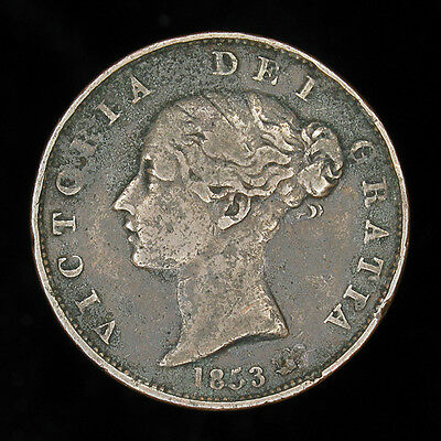 Great Britain 1853 half 1/2 penny