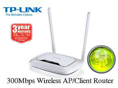 TP-LINK TL-WR843N 300Mbps Wireless N Router / AP / Client Router NBN Ready [F35]