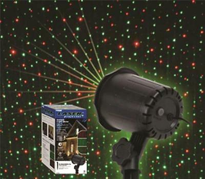 Prime LFLERG05 YARD STAKE CHRISTMAS LASER LIGHT PROJECTOR RED/GREEN 4 MODES