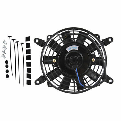 "BEST Cooling Fan Thermo 7"" 12 volt Electric 7 Inch UNIVERSAL Fan + Mounting KITS"