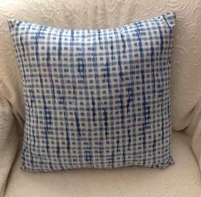 Waverly Blue White Accent Throw Pillow Chic Shabby