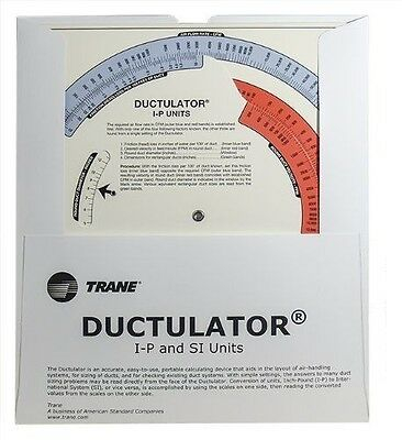 Brand New Trane Ductulator Duct Sizing Calculator Includes Sleeve