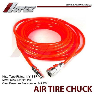 15m Coil Air Hose Recoil Hose 5mmX8mm PU with Standard Nitto Type Quick Fittings
