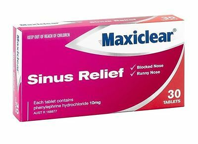 ~  Maxiclear Sinus Relief 30 Tablets