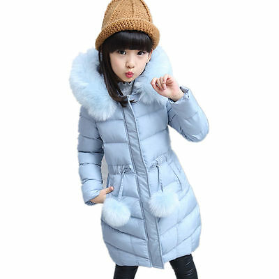 Girls Winter Coat Casual Warm Long Thick Hooded Jacket for Girls Clothing