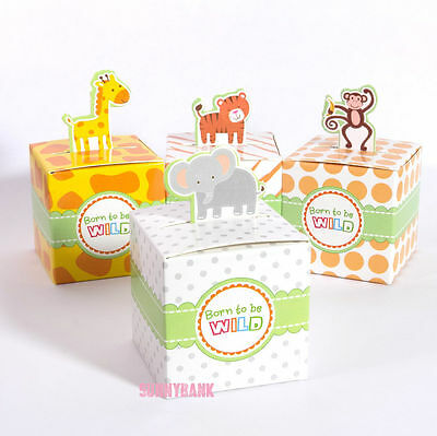 24pc Animal Baby Shower Birthday Christening Party Bomboniere Favour Gift Boxes