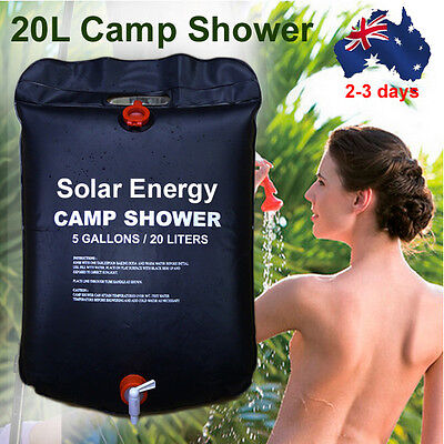 20L Easy Carry Solar Energy Outdoor Camping Hiking  Heated Camp Shower Pipe Bag