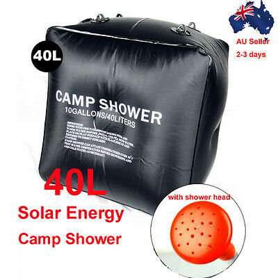 40L Easy Carry Solar Energy Outdoor Camping Hiking  Heated Camp Shower Pipe Bag