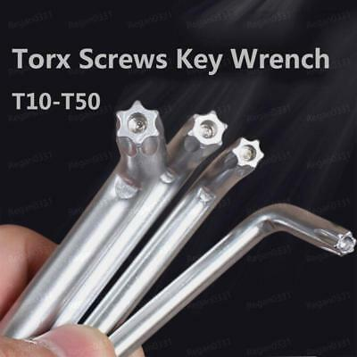 Torx Star Key Bit L-Wrench For Torx Secruity Screws T10 15 20 25 27 30 40 45 T50