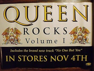 "Queen Rocks Volume I Promotional Poster 24"" x 36"" Freddie Mercury Brian May"