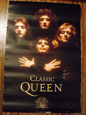 """Classic Queen Promotional Band Poster 24"""" x 36"""" Freddie Mercury Brian May"""
