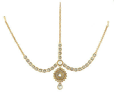 Indian Maang Tikka Bollywood Damini Jewelry Gold Plated Traditional Accessiors