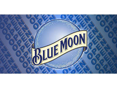 Open Blue Moon Banner Pub Bar Sign