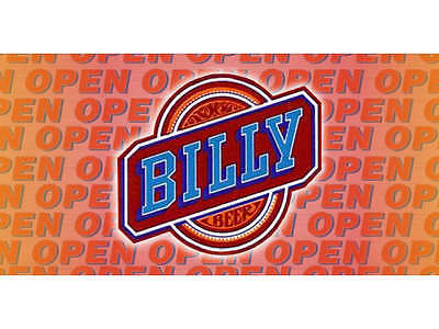 Open Billy Beer Banner Pub Bar Sign