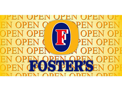 Open Foster's Beer Banner Pub Bar Sign