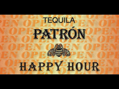 Open Tequila Patron Banner Pub Bar Sign
