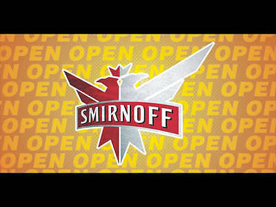 Open Smirnoff Vodka Banner Pub Bar Sign