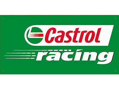 Advertising Display Banner for Castrol Racing Sales Service Oils