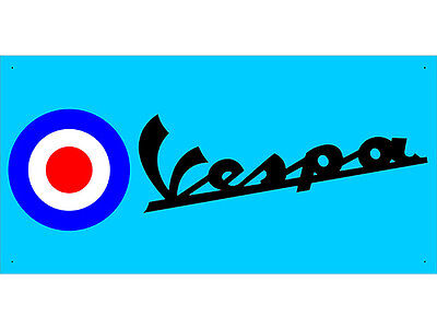 Advertising Display Banner for Lambretta Vespa Sales Service Parts